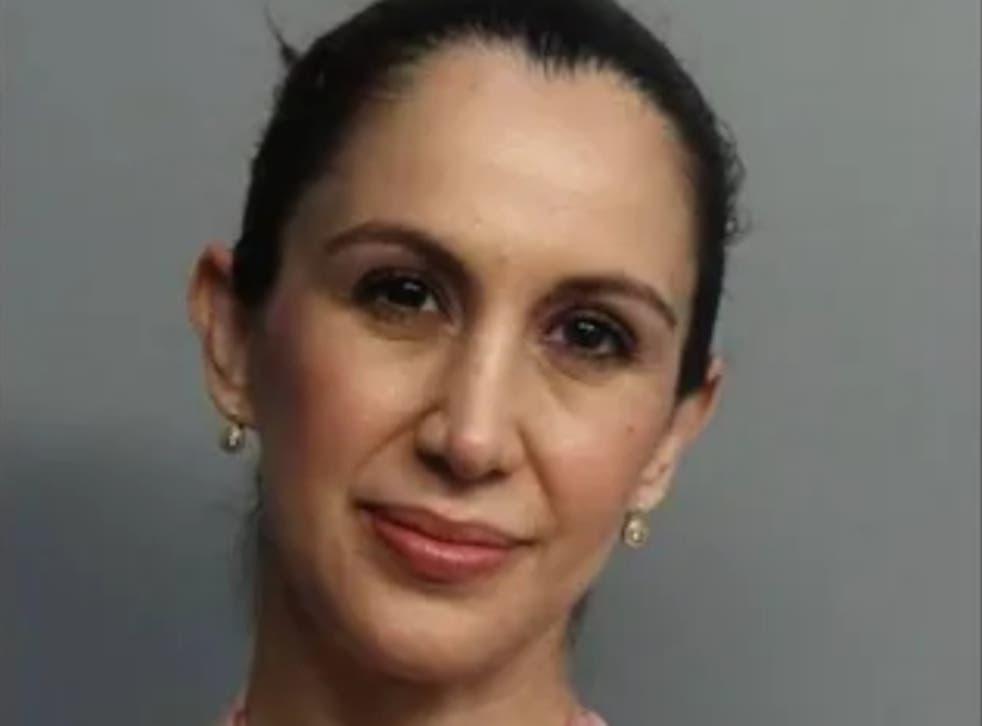 <p>Teacher Heiry Calvi, who has been arrested in Florida</p>