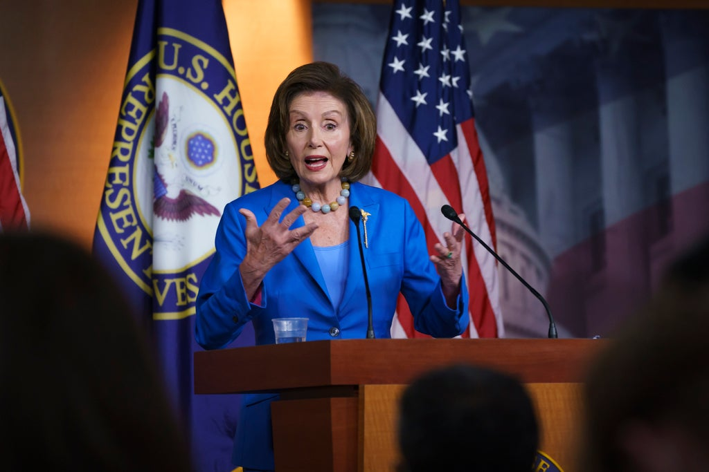Pelosi plans vote this week as battle over Biden's infrastructure proposal continues