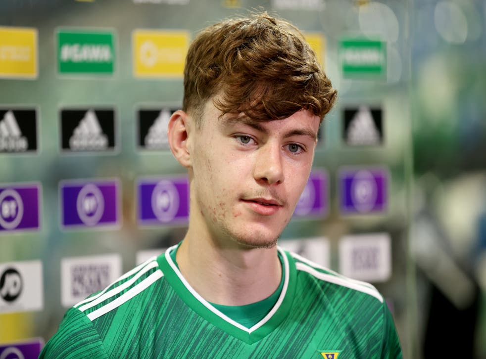 Conor Bradley had another impressive night in a Northern Ireland shirt (Liam McBurney/PA)