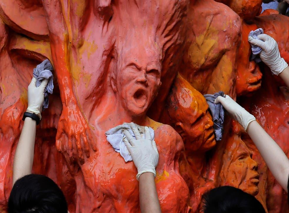 Hong Kong Tiananmen Sculpture