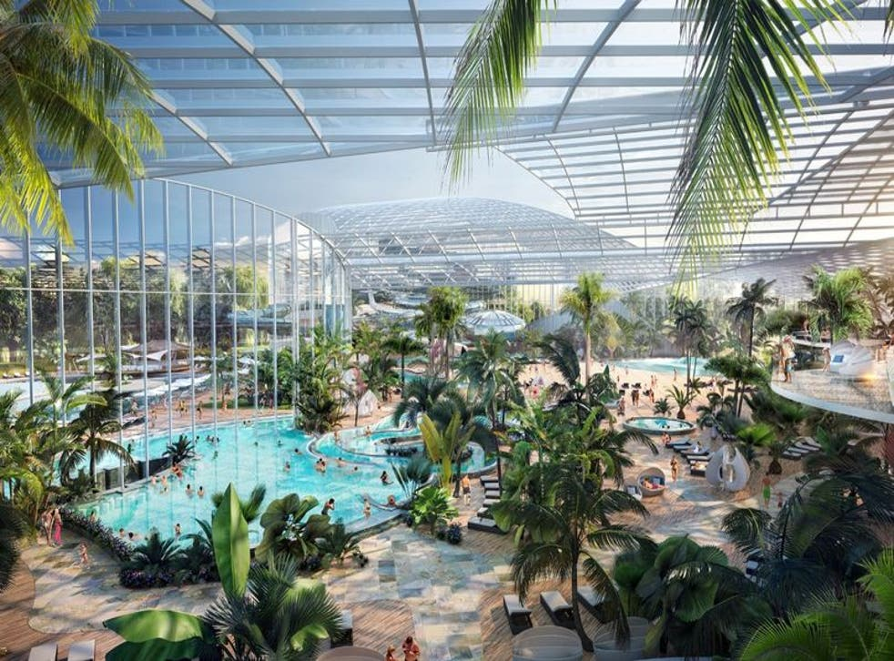 <p>Designs for Therme Manchester, slated to open in 2023</p>