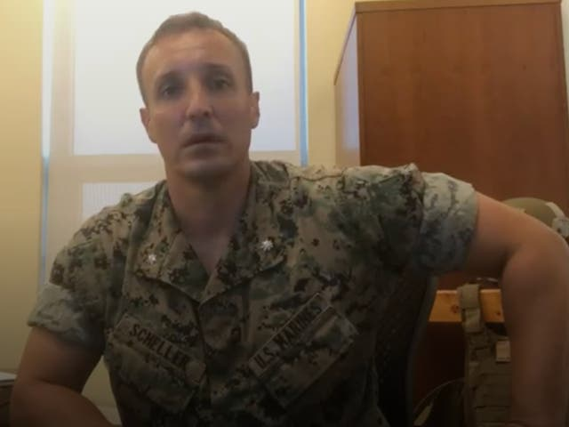 <p>A marine criticised senior officers over the US troop withdrawal from Afghanistan in  viral videos</p>