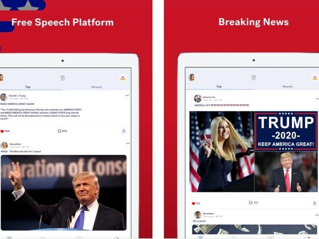 Los abogados del expresidente Donald Trump han enviado un cese y desistimiento a una misteriosa aplicación de redes sociales