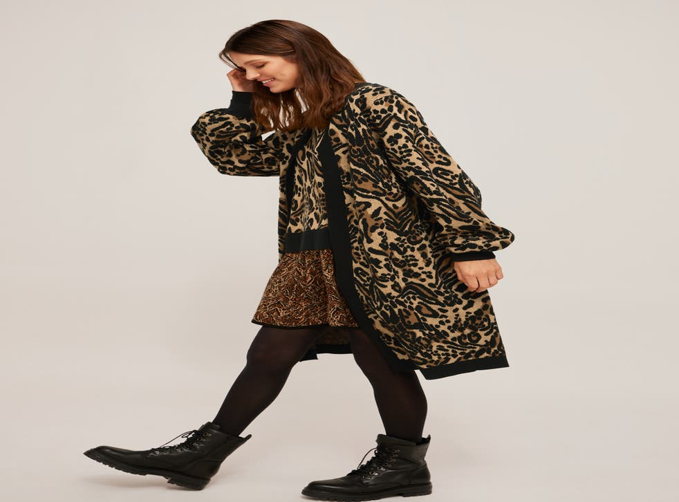 A slouchy animal print cardigan is an autum must-have (John Lewis/PA)