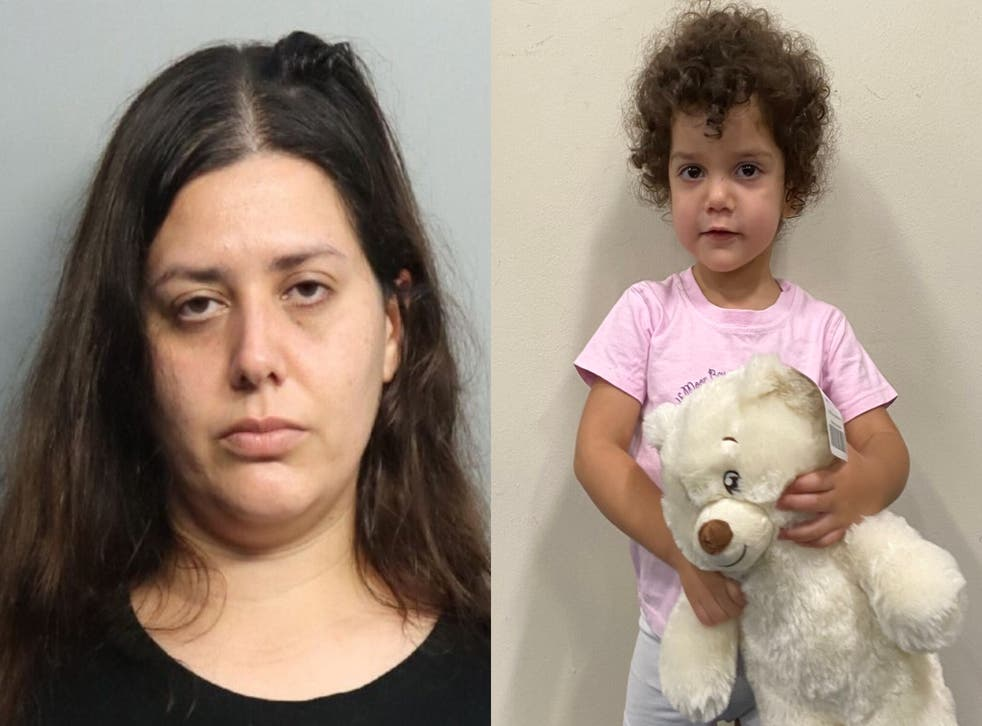 <p>Carolina Vizcarra left her daughter with two strangers at a Florida hospital on 12 October </p>