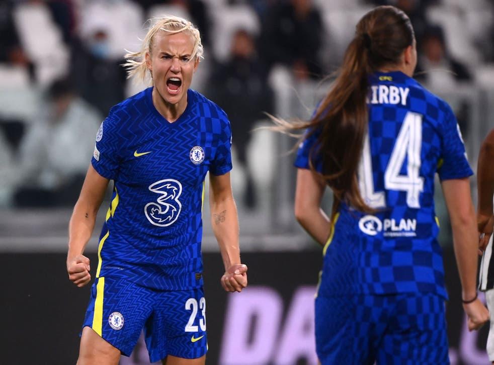 <p>Pernille Harder scored the winner in Turin</p>
