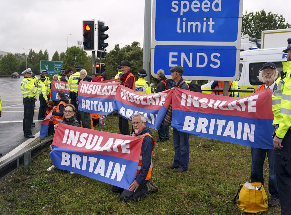 <p>Insulate Britain - an offshoot of Extinction Rebellion - wants the government to insulate all UK homes by 2030 to cut carbon emissions</p>