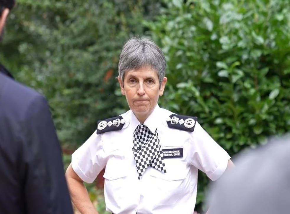 <p>Jill Knight, 64, wrote to  Met Police Commissioner Cressida Dick (pictured) </p>