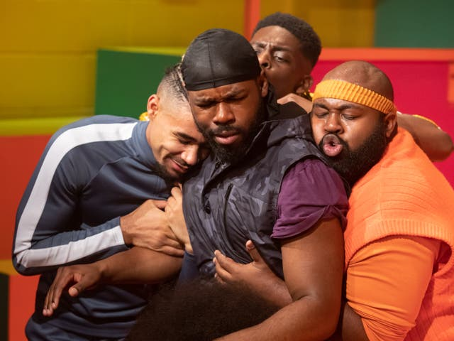 <p>Hue and cry: the cast of 'For Black Boys' </p>