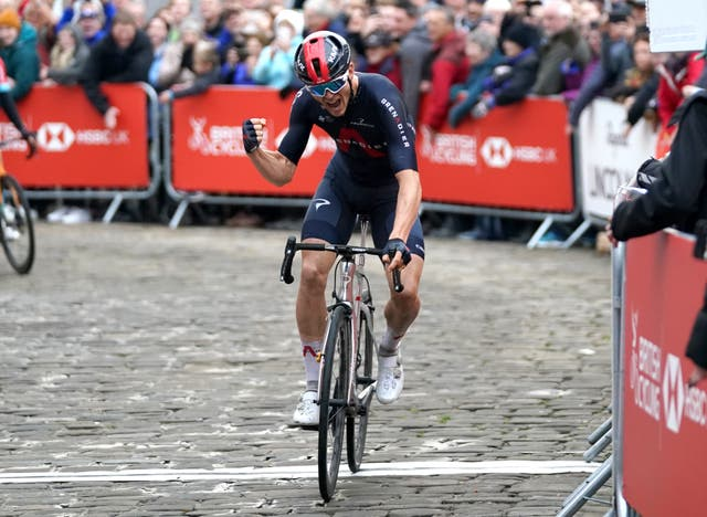 Ben Swift successfully defended his British road race title with victory in Lincoln (Tim Goode/PA)