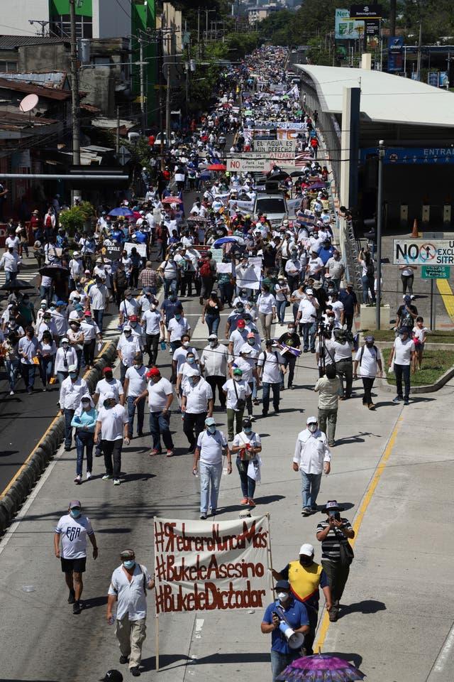 EL SALVADOR-PROTESTA