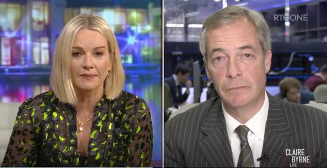 <p>'No tienes ni idea': Claire Byrne de RTÉ desafía a Nigel Farage por su conocimiento de Irlanda. </p>