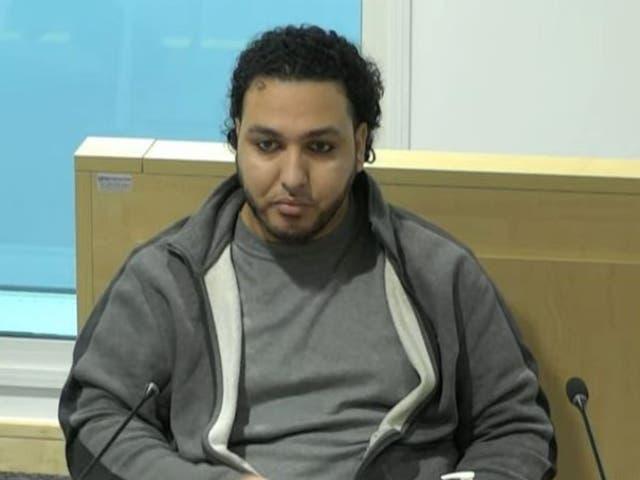 <p>Abdalraouf Abdallah compareciendo ante la investigación pública del Manchester Arena el 20 de octubre. </p>