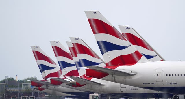IAG was among the biggest fallers on the FTSE 100 on Wednesday (PA)