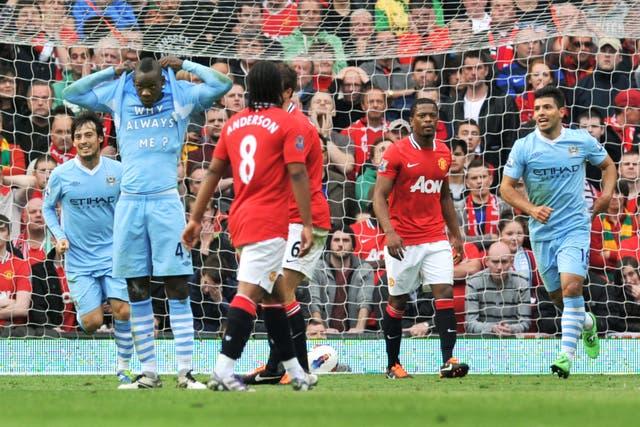 Manchester City thrashed rivals Manchester United 6-1 a decade ago (Martin Rickett/PA)