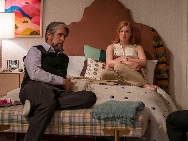 <p>Alan Ruck and Sarah Snook in 'Succession'</p>