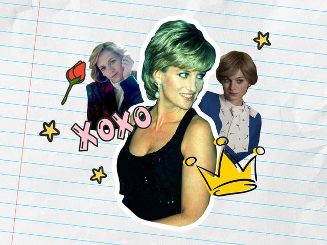 <p>Meme queen: Princess Diana in 1995, and Kristen Stewart (left) in 'Spencer' and Emma Corrin (right) in 'The Crown'</p>
