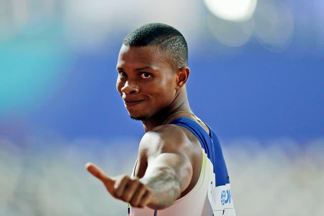 <p>Alex Quiñónez was a 200-metre runner. </p>