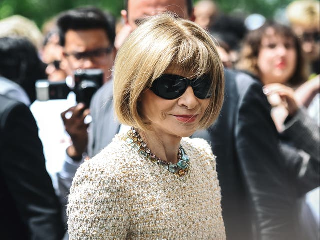 <p>Vogue Editor-in-Chief Anna Wintour arrives at the Louis Vuitton fashion show during the Men's Spring/Summer 2020 fashion show in Paris on June 20 2019</p>