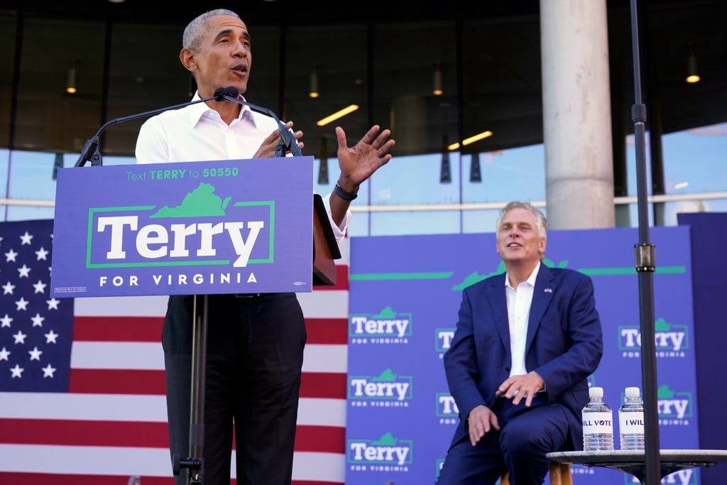 'He's not going to be a champion of democracy': Obama slams GOP candidate for New Jersey governor