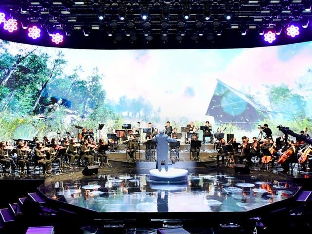 El concierto del Día de la ONU, celebrado en la sede de la ONU en Nueva York, el 21 de octubre de 2021.