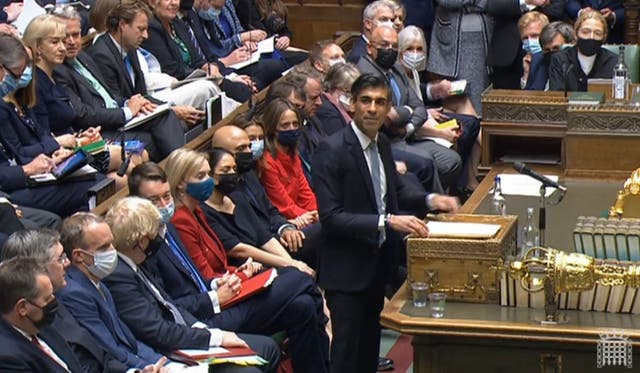 Rishi Sunak delivering his Budget to the House of Commons on Wednesday (House of Commons/PA)