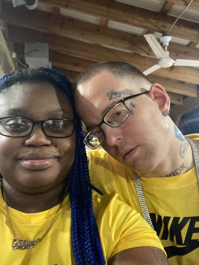 <p>Gloria Williams and Brian Coulter in a photo on her Facebook. Officials said they had been in a relationship for years</p>