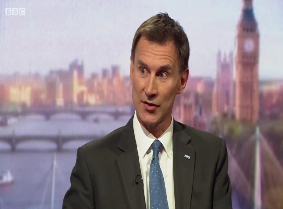 Jeremy Hunt asked why nurses are having to go to food banks