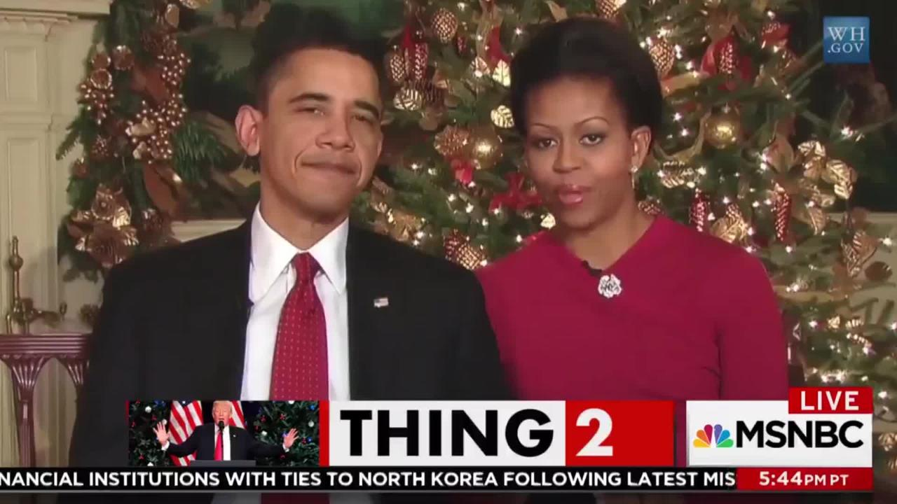 Msnbc Trolls Trump With Clips Of Obama Saying Merry Christmas