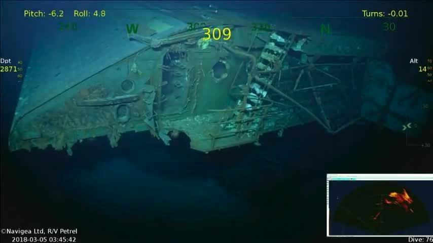 Uss Lexington Wreck Of Second World War Aircraft Carrier Found In