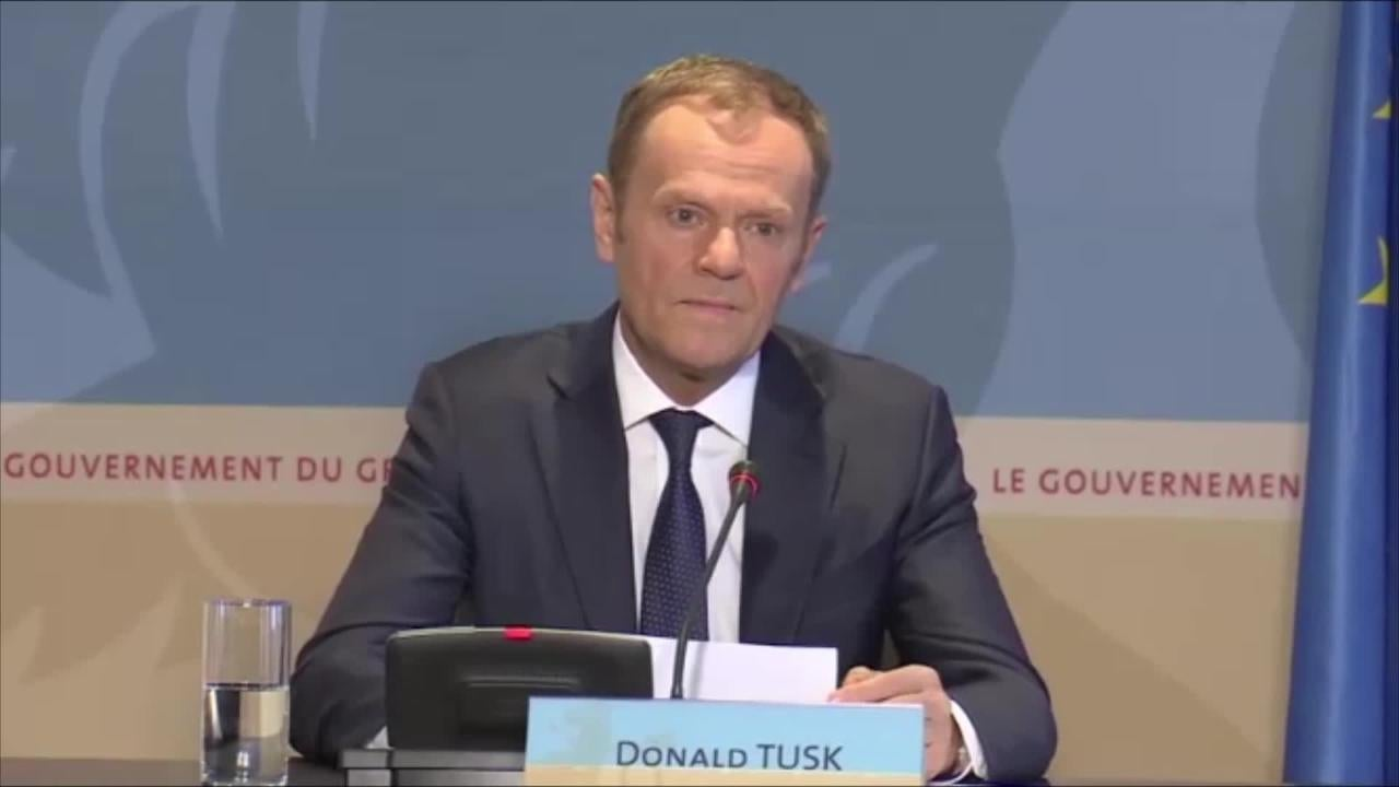 Donald Tusk sounded tough but it was worth listening to what he didn't say
