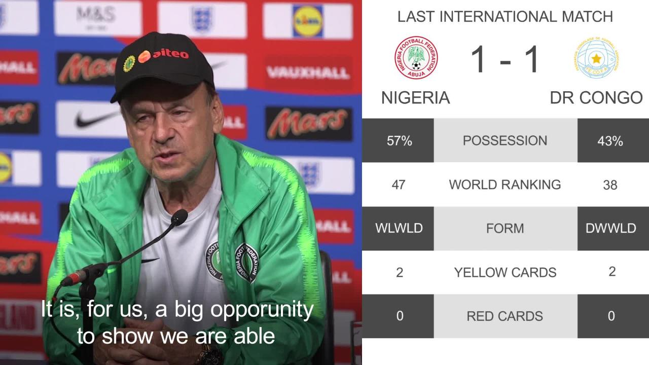 England Vs Nigeria World Cup 2018 Warm Up As It Happened The