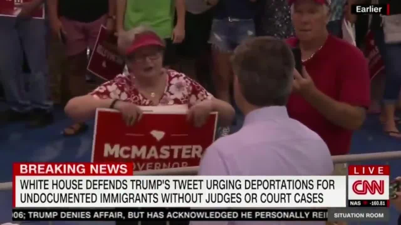 Cnns jim acosta heckled at donald trump rally and told to go home the independent