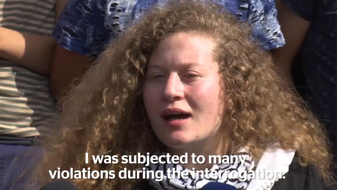 Ahed Tamimi Teenage Palestinian Protester Released From Israeli