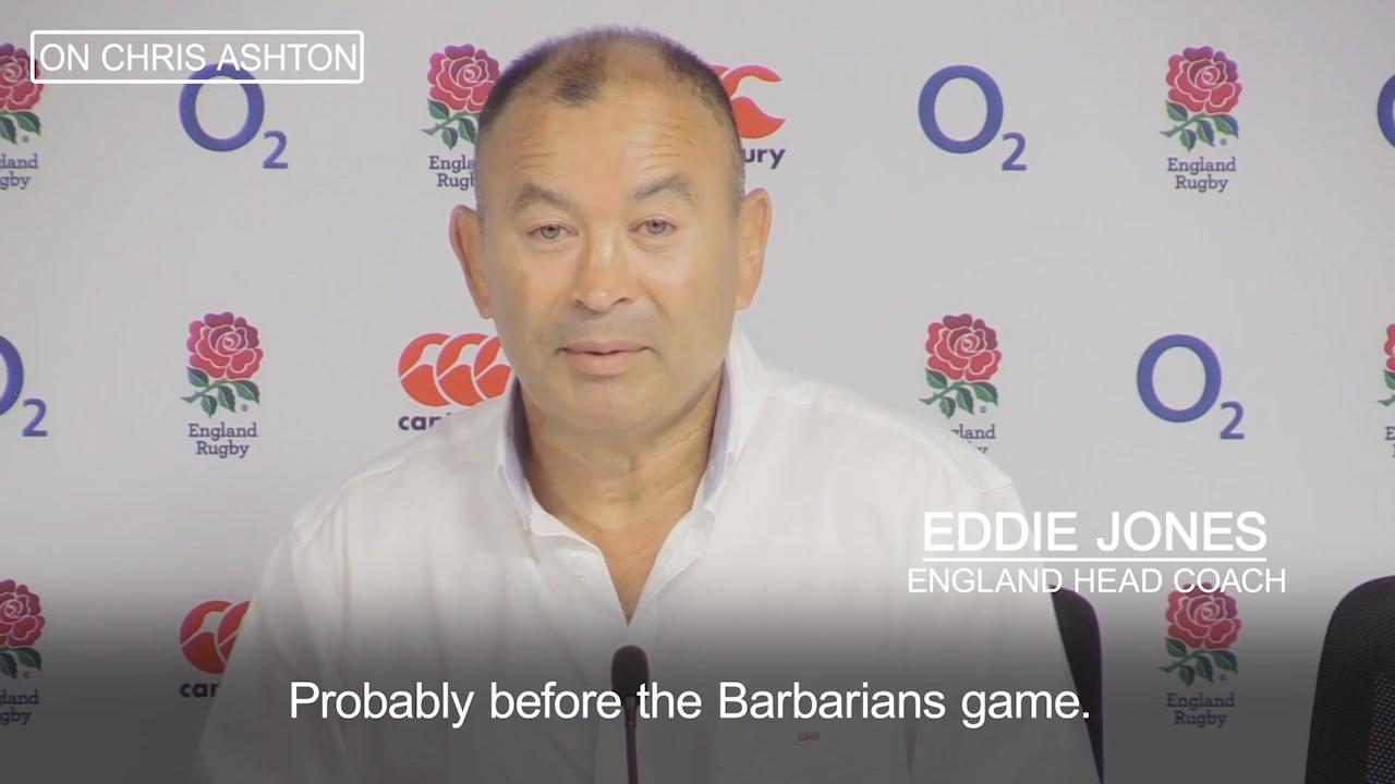 cdd32c83278 Eddie Jones lays out Chris Ashton s England return and explains why tour  absentees remain out of his squad