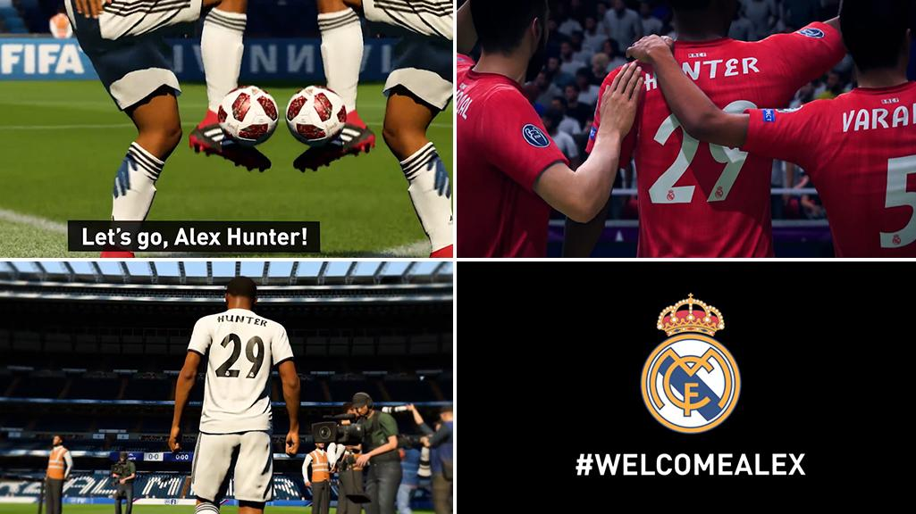 ad58bbf98f68 Fifa 19  Real Madrid fans furious after club signs virtual player Alex  Hunter