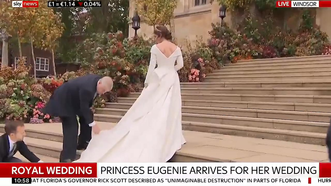 3e4f6c8bc1ef1 Royal wedding: Princess Eugenie wears Peter Pilotto and Christopher De Vos  dress | The Independent
