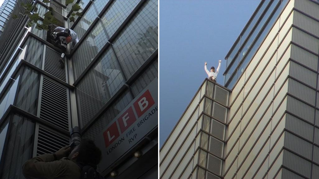 French Spiderman Alain Robert Illegally Climbs City Of London S