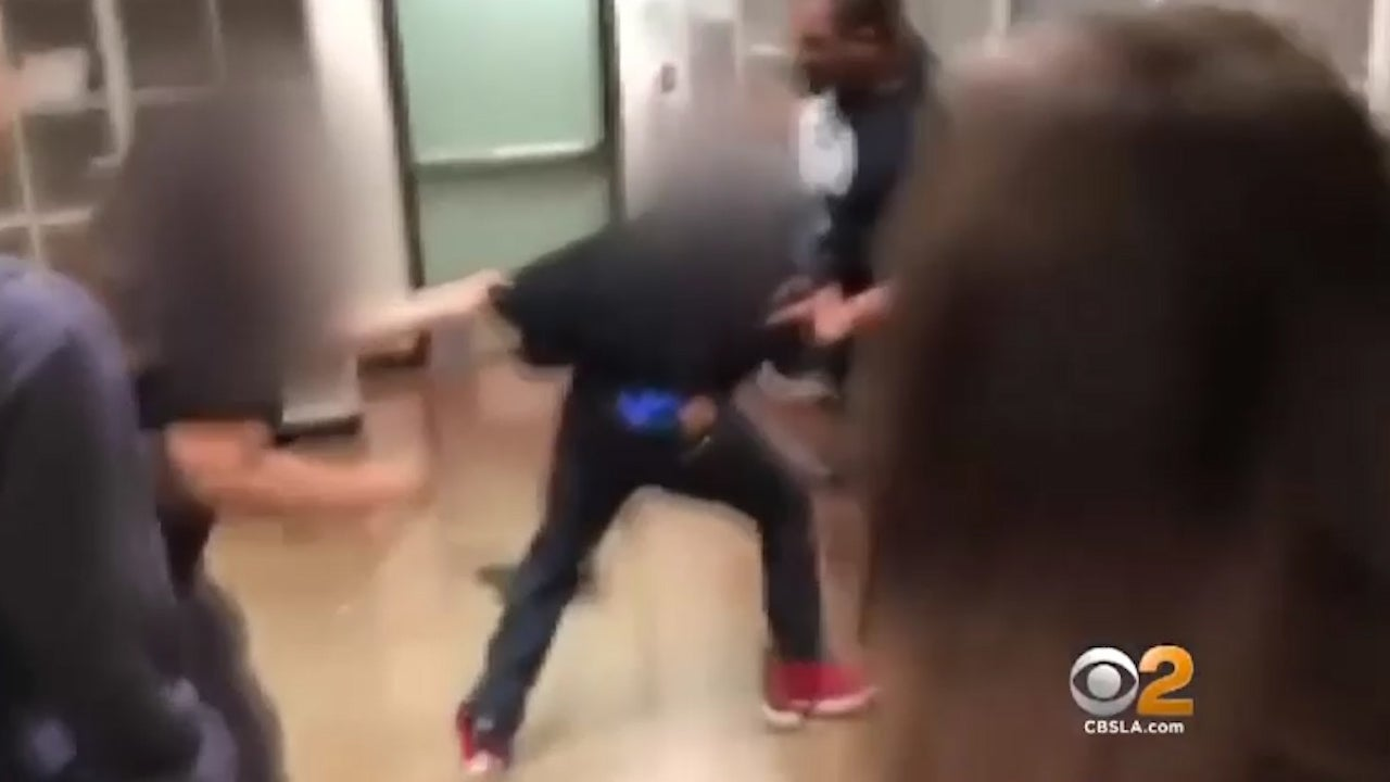 California teacher arrested after being filmed punching 14-year-old in front of class