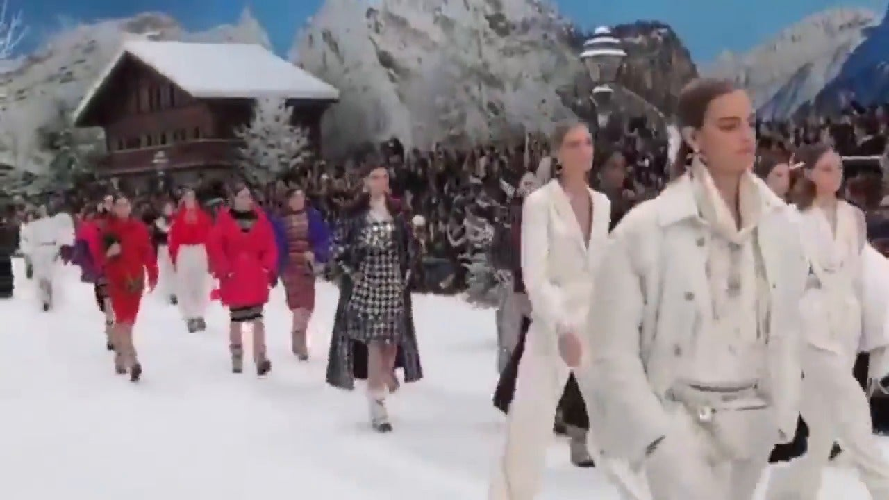 Chanel honours late Karl Lagerfeld with minute silence at snow-covered Paris Fashion Week show