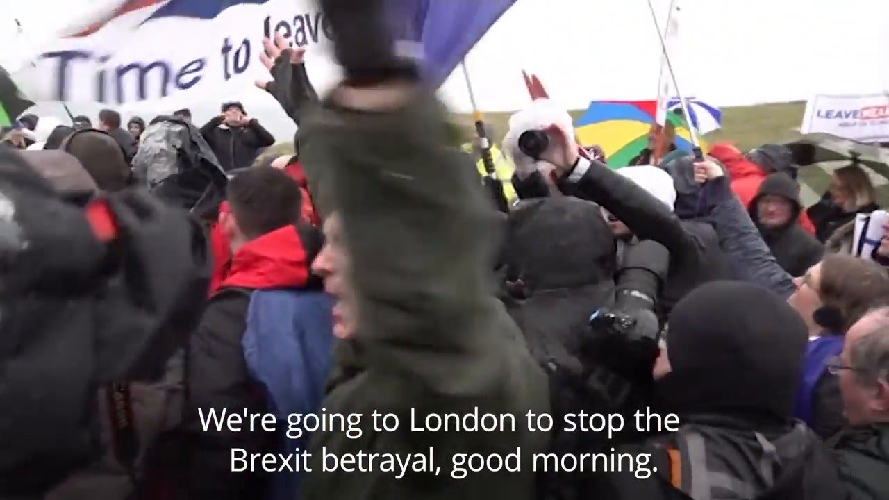 Nigel Farage won't be completing Brexit betrayal march – after weeks of urging supporters to take part