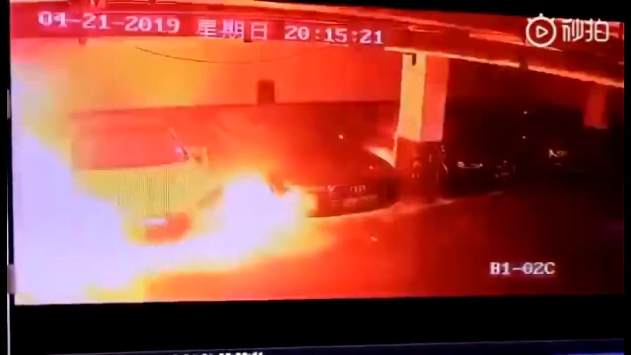 Flaming Chinese Tesla in explosion video triggers investigation