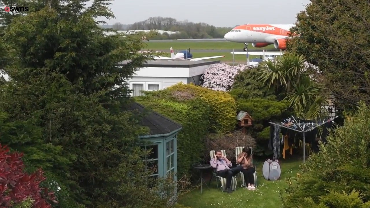 Couple find passenger jets taxiing yards from their back garden after airport expansion