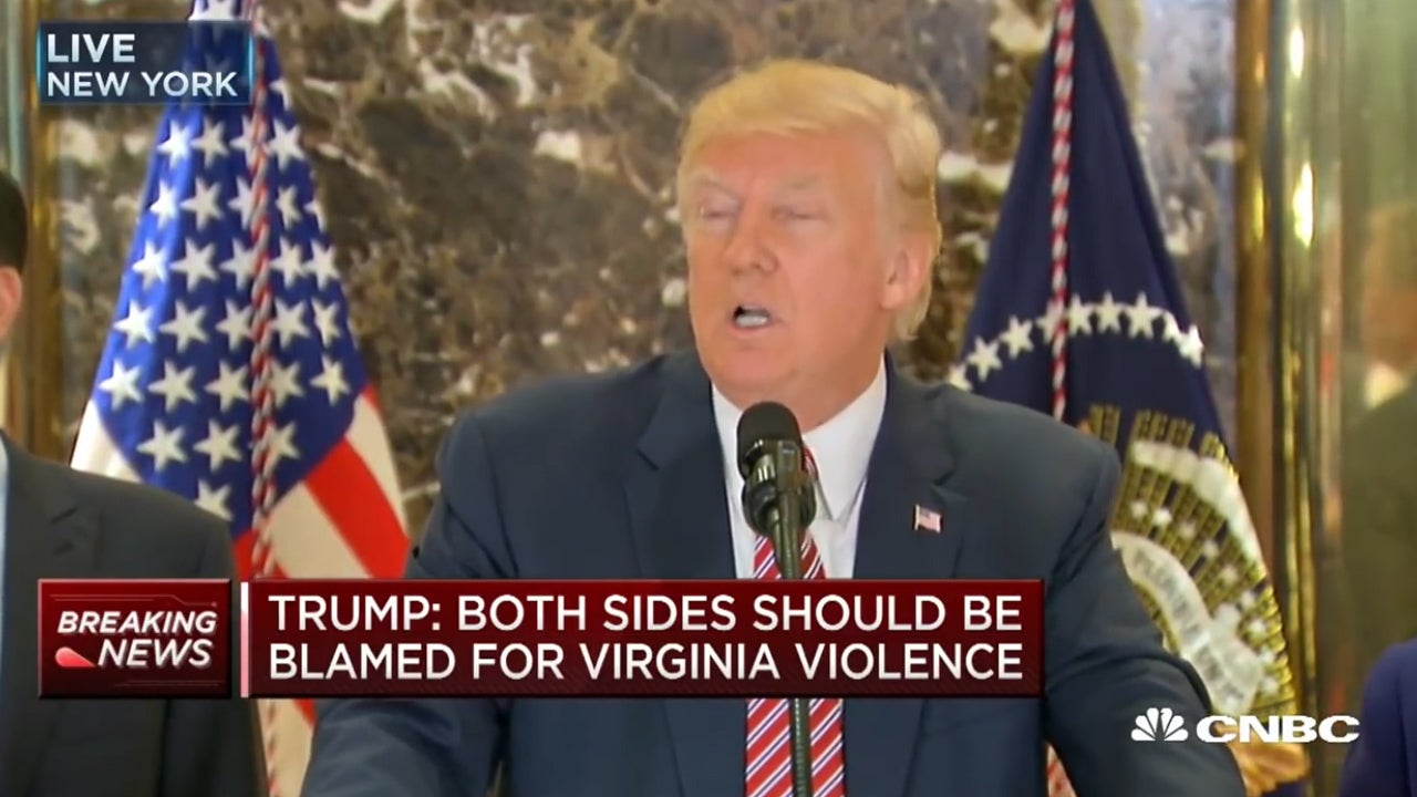 When Donald Trump defended his remarks about Charlottesville today, this is what I thought