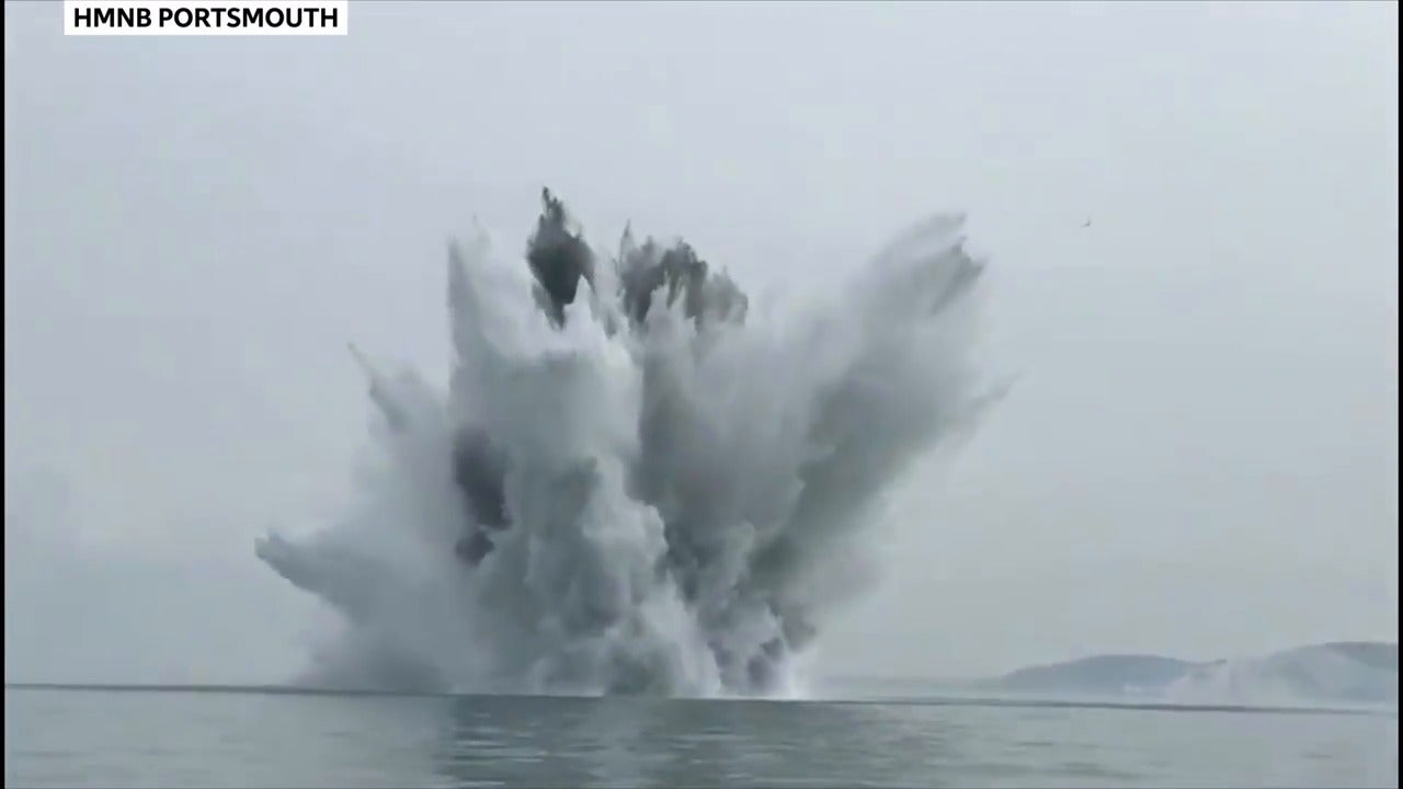 German wartime bomb detonated off Isle of Wight