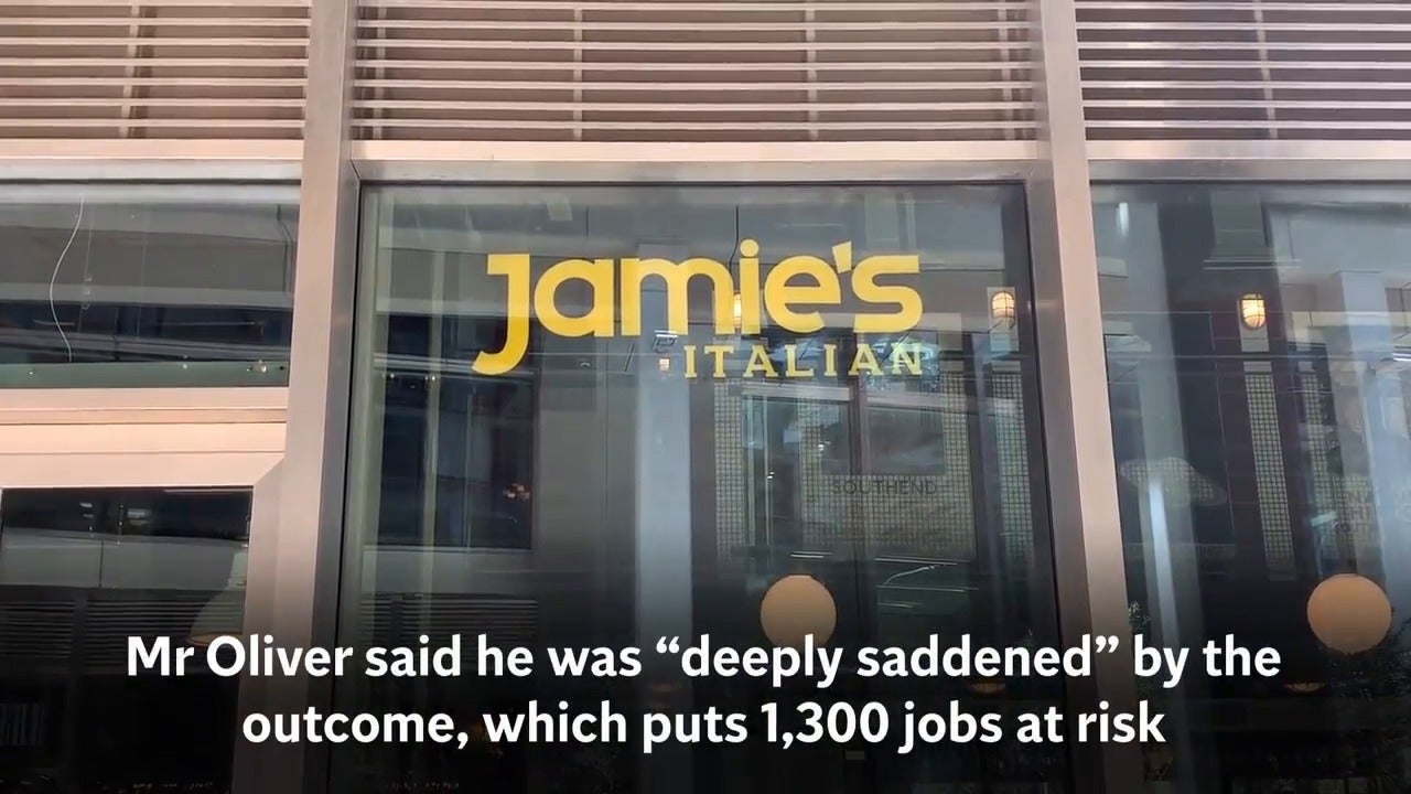 Jamie Oliver's restaurant chain collapses into administration, with 1,000 jobs lost