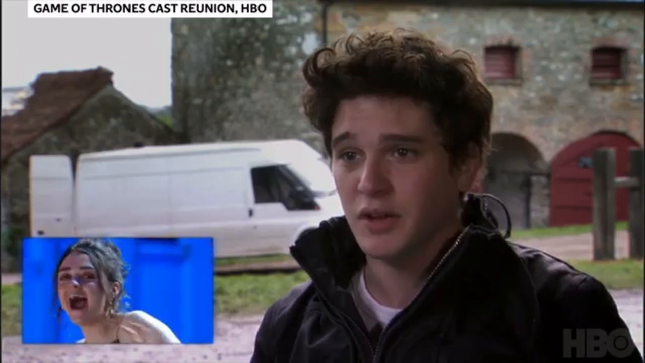 Game of Thrones cast scream when they see what Kit Harington looked …