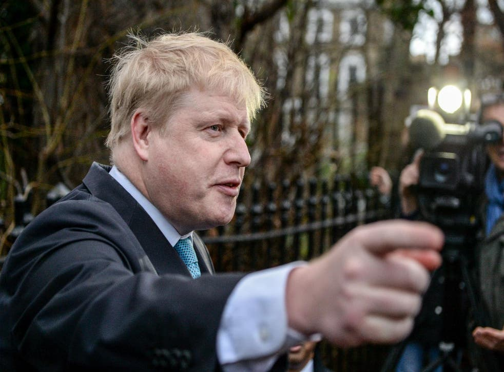 Boris Johnson announces his stance on the EU referendum on February 21st 2016 in central London