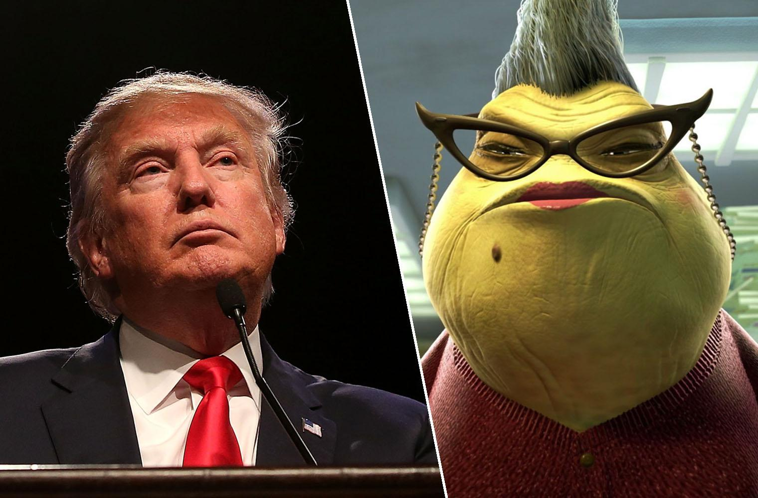 Someone finally turned Donald Trump into Roz from Monsters Inc  and