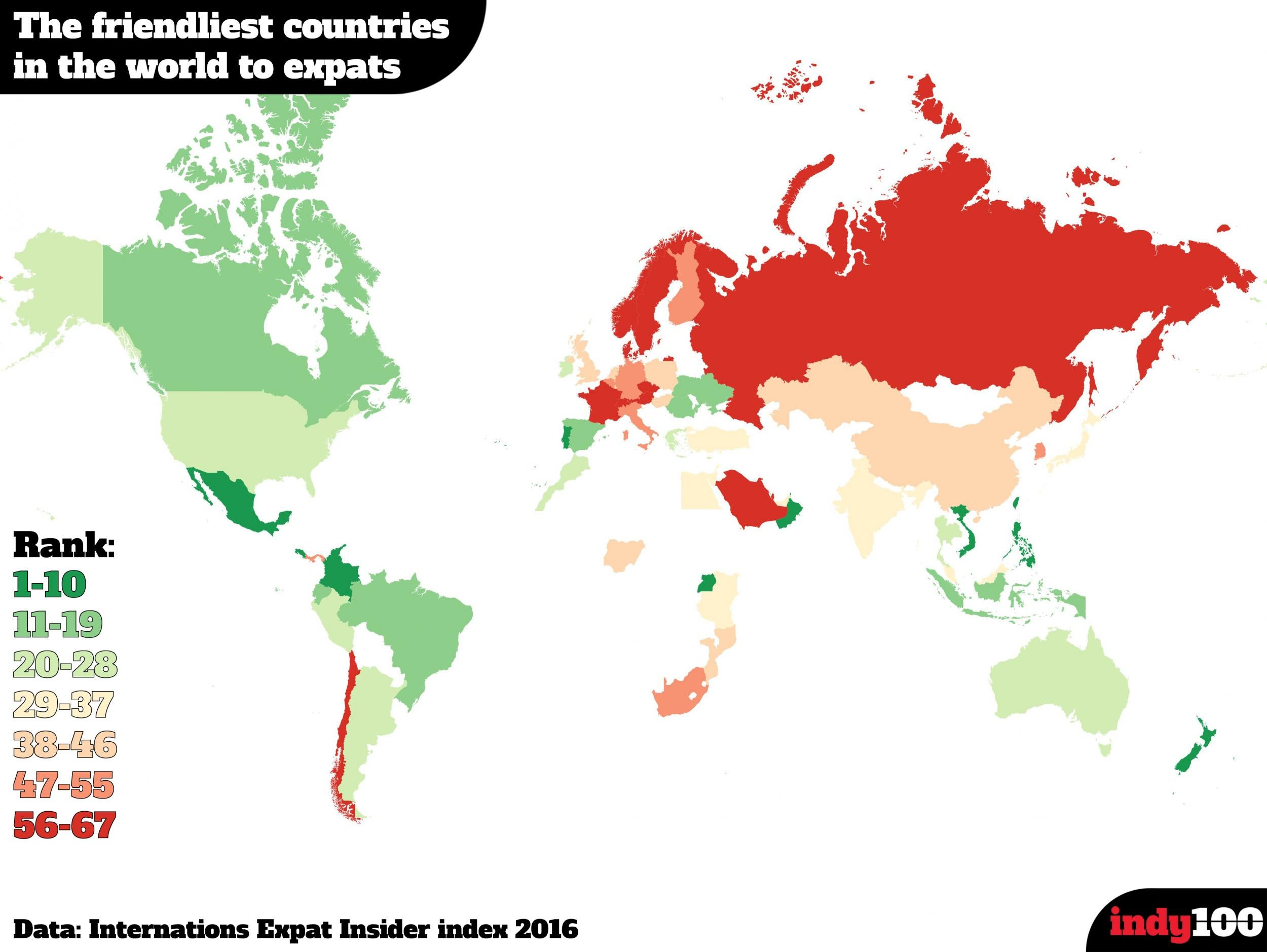 The best and worst countries in the world for making friends